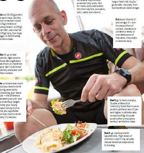 Nutrition for Older Athletes, Cycling Weekly Apr 2016
