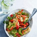 Halloumi and Red Pepper Salad