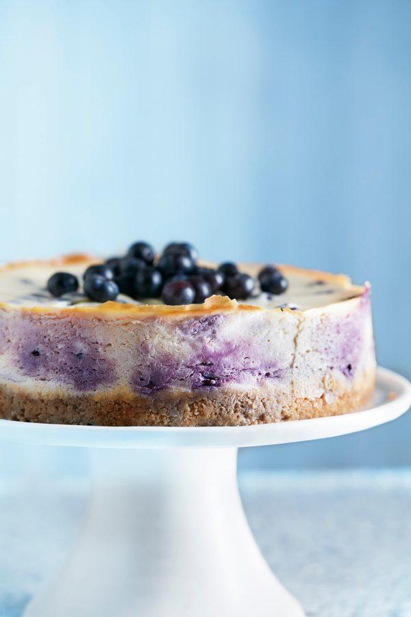 Blueberry New York-style cheesecake