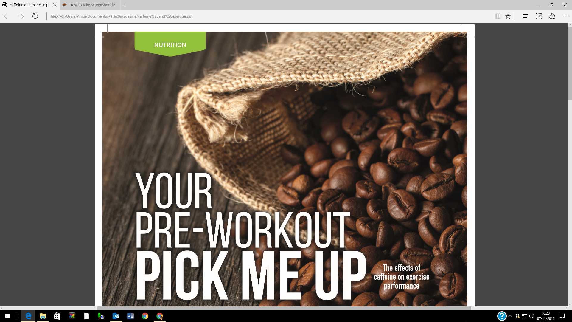 Caffeine, Personal Trainer Nov 2016