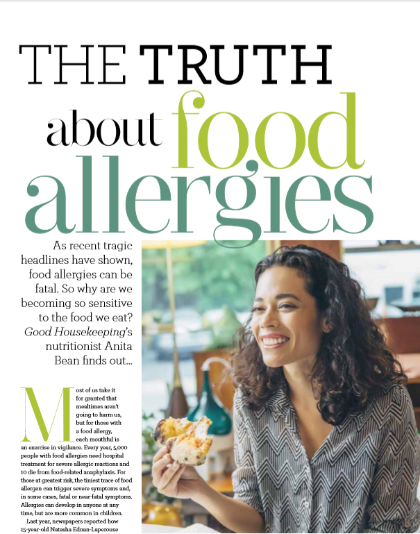 The Truth About Food Allergies, Good Housekeeping, March 2019