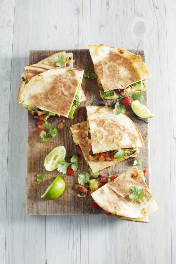 Quesadillas with Beans and Red Peppers